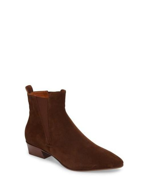 Aquatalia | Brown Fabienne Weatherproof Chelsea Boot | Lyst