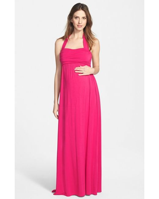 Ingrid & Isabel | Purple Ingrid & Isabel Convertible Maxi Maternity Dress | Lyst