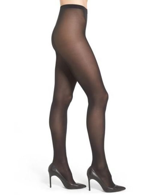 Wolford - Black 'velvet De Luxe' Semi-opaque Tights - Lyst