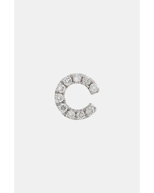 Bony Levy   White Single Initial Earring (nordstrom Exclusive)   Lyst