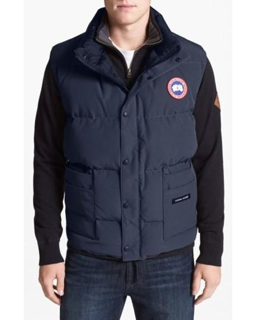 Canada Goose | Yellow 'freestyle' Water Resistant Regular Fit Down Vest for Men | Lyst