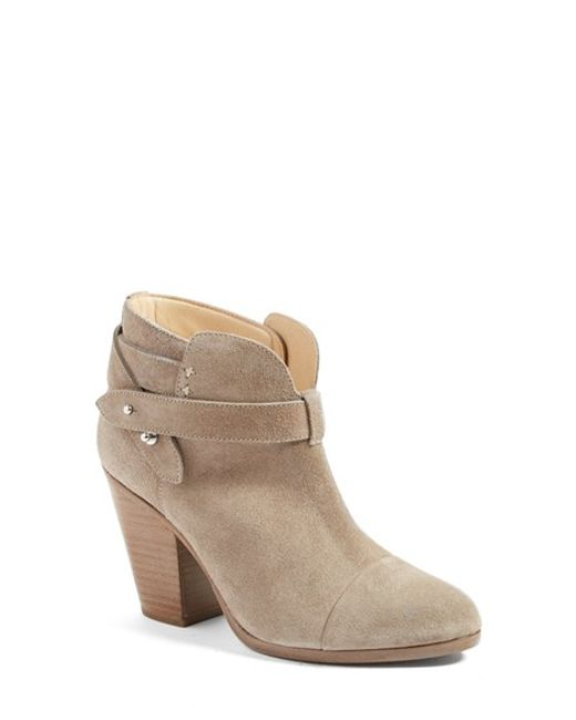 Rag & Bone | Gray 'harrow' Leather Boot | Lyst