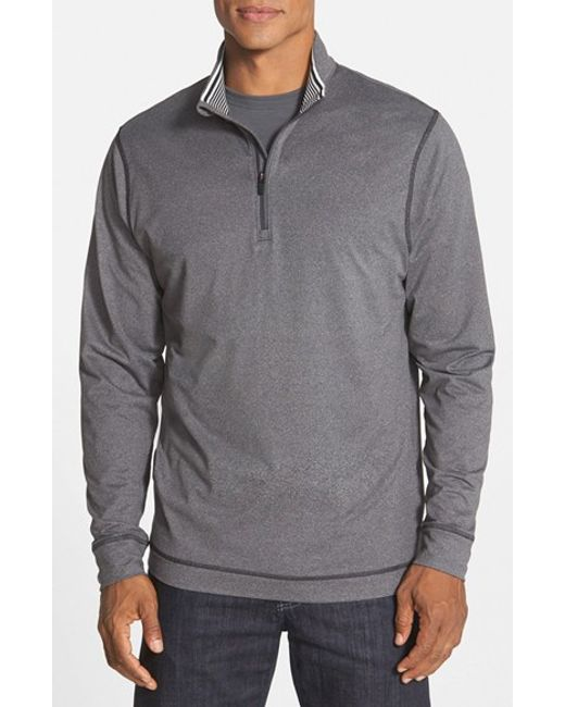 Cutter & Buck | Gray 'topspin' Drytec Half Zip Pullover for Men | Lyst