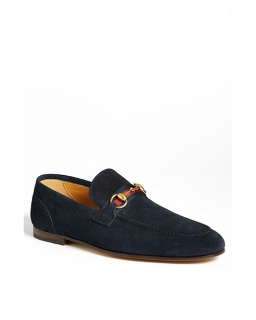 Gucci | Blue 'elanor' Bit Loafer for Men | Lyst