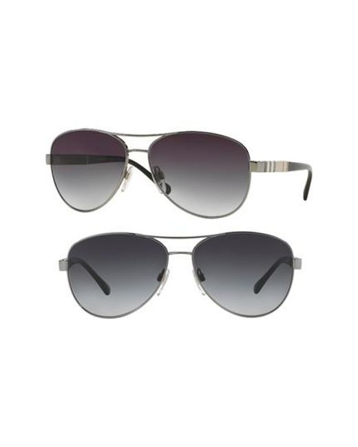 Burberry - Metallic 59mm Aviator Sunglasses - Lyst
