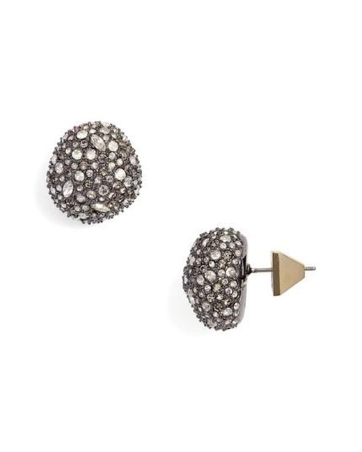 Alexis Bittar - Metallic Elements Pave Stud Earrings - Lyst