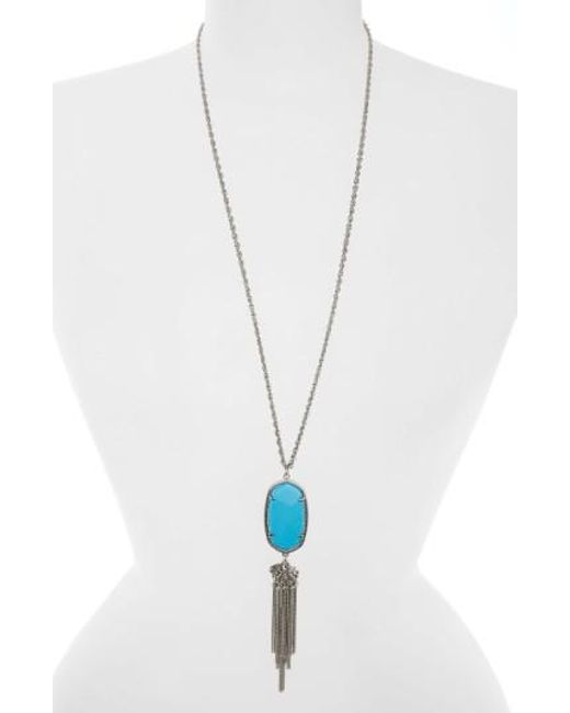 Kendra Scott | Metallic Rayne Stone Tassel Pendant Necklace | Lyst