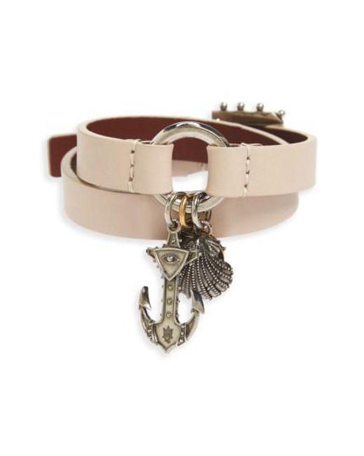 Alexander McQueen | Multicolor Marine Leather Wrap Bracelet | Lyst