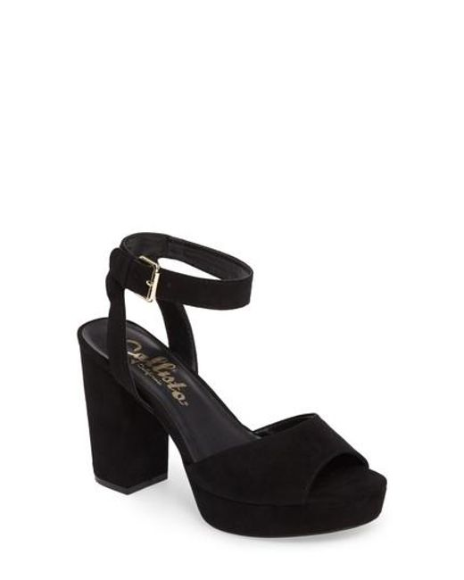 Callisto | Black Jerzy Platform Sandal | Lyst