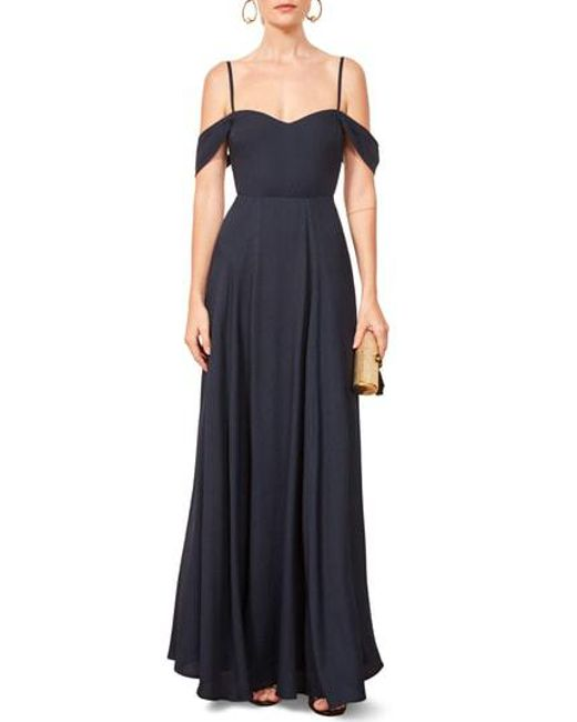 Reformation Blue Poppy Maxi Dress Lyst