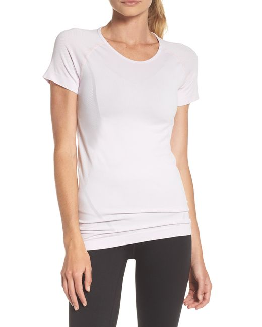 Zella - Yellow Stand Out Seamless Training Tee - Lyst