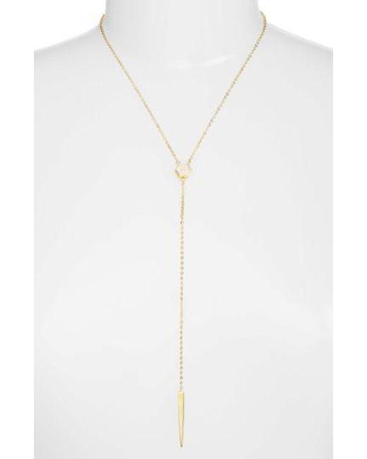 Melinda Maria | Metallic Emma Y-necklace | Lyst