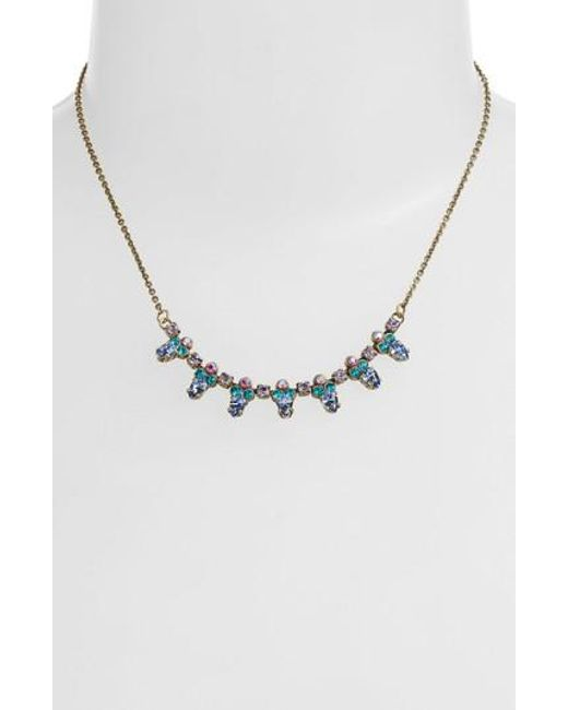 Sorrelli - Metallic Twinkling Thistle Crystal Necklace - Lyst