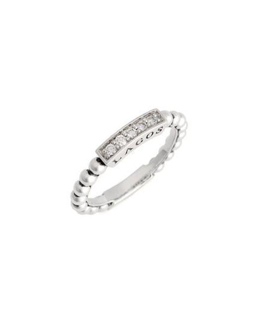 Lagos - Metallic Caviar Icon Spark Diamond Stacking Ring - Lyst