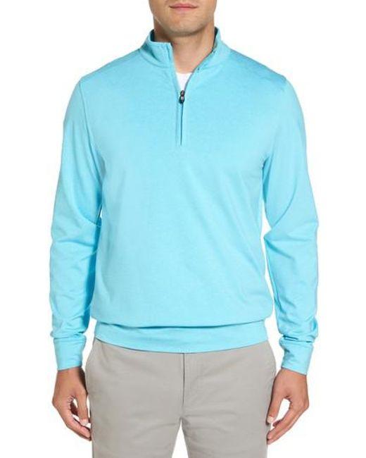 Cutter & Buck | Blue Shoreline Quarter-zip Pullover for Men | Lyst