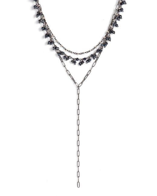 Ela Rae - Multicolor Layered Lariat Necklace - Lyst