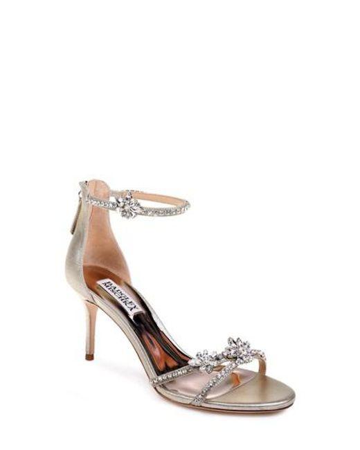 Badgley Mischka - Metallic Hobbs Ankle Strap Sandal - Lyst