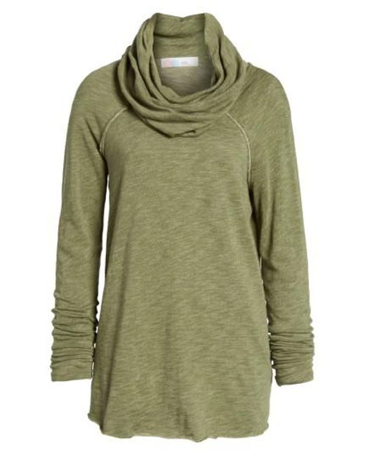 Free People | Green 'Beach Cocoon' Cowl Neck Pullover | Lyst
