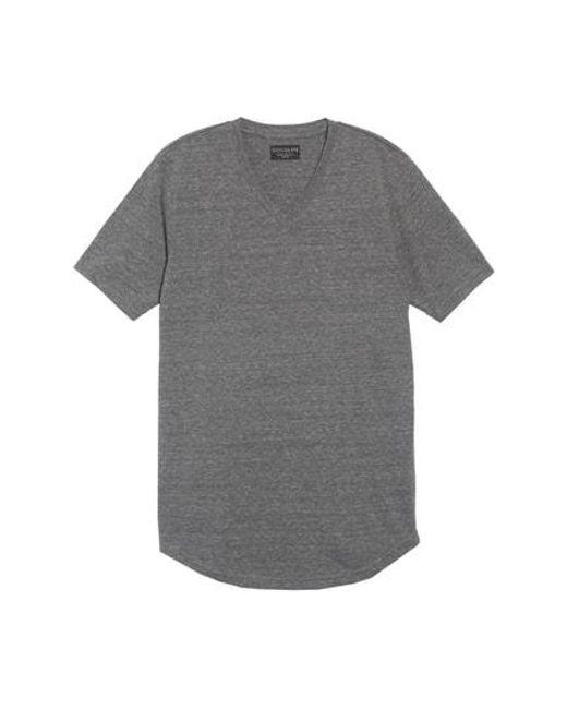 Goodlife - Gray Scallop Triblend V-neck T-shirt for Men - Lyst