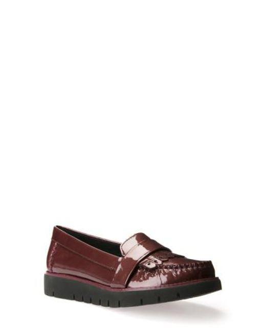 Geox   Multicolor Blenda Patent-Leather Kiltie Loafers   Lyst