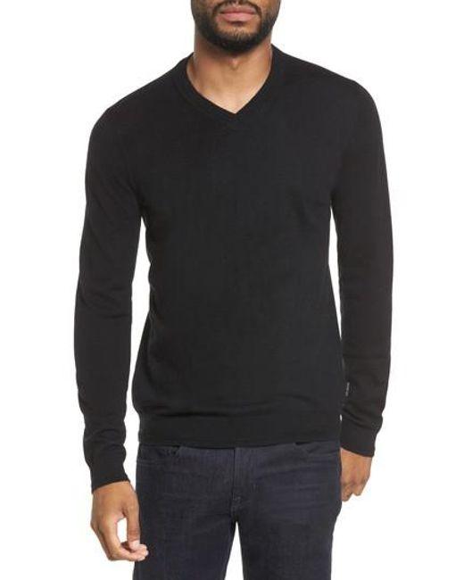 Ted Baker | Black V-neck Sweater for Men | Lyst