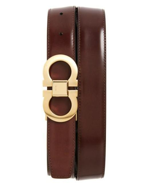 Ferragamo - Brown Reversible Belt for Men - Lyst