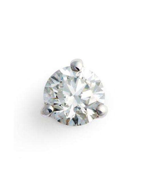 Bony Levy - Metallic Single Diamond Stud Earring (nordstrom Exclusive) - Lyst