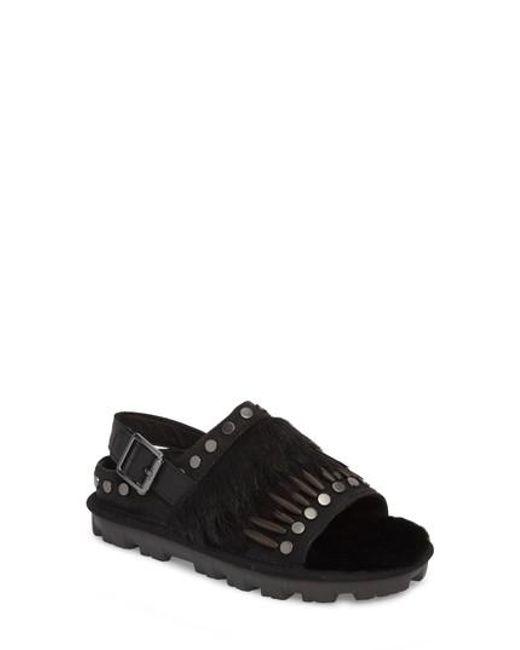 UGG Biker Chic Genuine Fur Sandal gIzeCPE