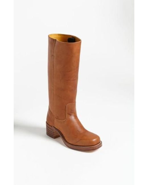 Frye | Brown 'campus 14l' Boot | Lyst