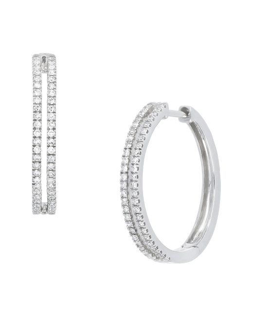 CARRIERE JEWELRY - Metallic Carriere Double Row Diamond Hoop Earrings (nordstrom Exclusive) - Lyst