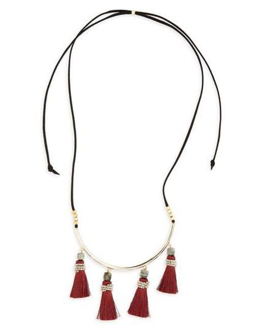 Panacea | Metallic Tassel Necklace | Lyst