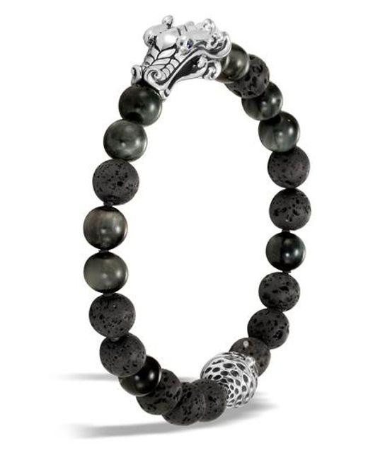 John Hardy - Gray Legends Naga Bead Bracelet - Lyst