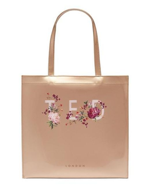 Ted Baker - Pink Large Icon - Serenity Print Tote - Lyst