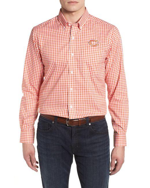 Cutter & Buck - Orange League Chicago Bears Regular Fit Shirt for Men - Lyst