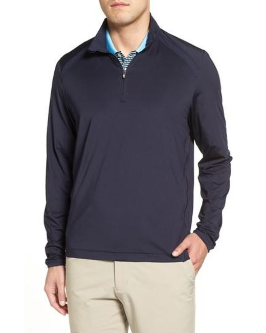 Cutter & Buck | Blue Williams Half Zip Pullover for Men | Lyst