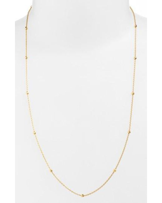 Argento Vivo - Metallic Long Station Necklace - Lyst