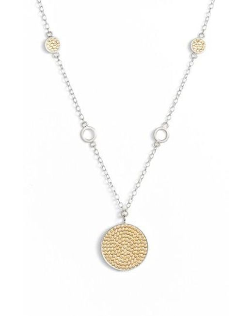 Anna Beck | Metallic Two-tone Reversible Long Pendant Necklace (special Purchase) | Lyst