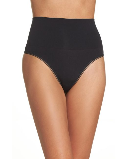 Yummie - Black Yummy By Heather Thomson Ultralight Seamless Shaping Thong - Lyst