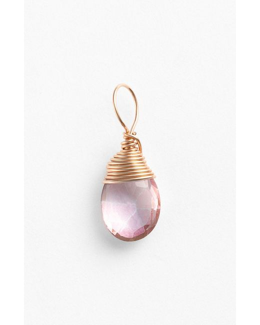 Nashelle - Pink 14k-rose Gold Fill & Semiprecious Stone Charm - Lyst