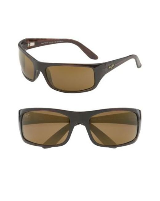 Maui Jim | Metallic 'peahi - Polarizedplus2' 67mm Sunglasses for Men | Lyst