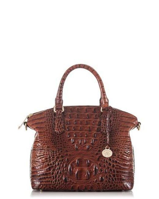 Brahmin - Red 'medium Duxbury' Croc Embossed Leather Satchel - Lyst