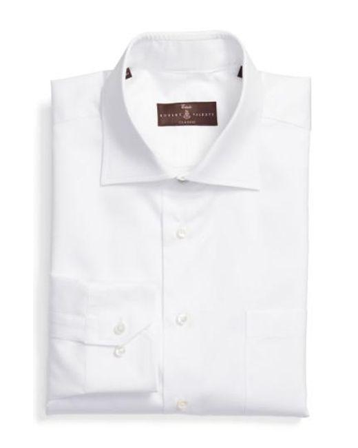 Lyst robert talbott classic fit dress shirt in white for men for Robert talbott shirts sale