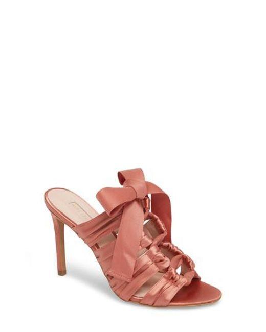 Avec Les Filles - Pink Janelle Bow Sandal - Lyst