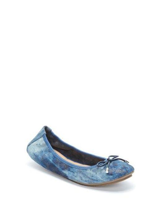 Me Too | Blue 'halle 2.0' Ballet Flat | Lyst