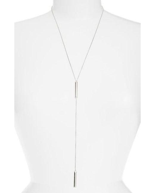 Kendra Scott | Metallic 'shelton' Y-necklace | Lyst