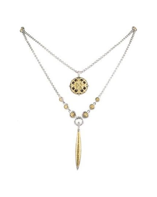 Konstantino - Metallic Gaia Mulitistrand Pendant Necklace - Lyst