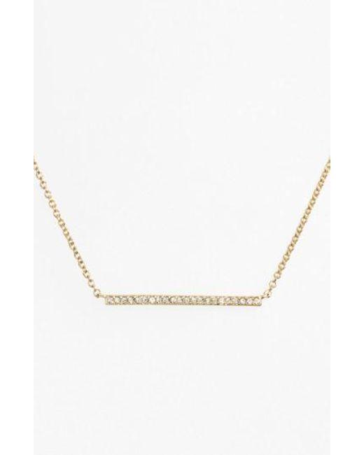 Nadri | Metallic Bar Pendant Necklace | Lyst
