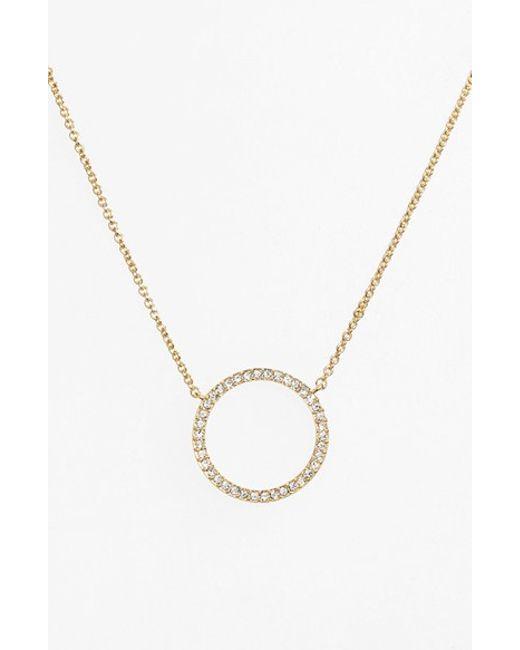Nadri | Metallic Circle Pendant Necklace | Lyst