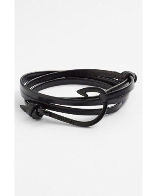 Miansai | Black 'noir' Hook Leather Bracelet for Men | Lyst