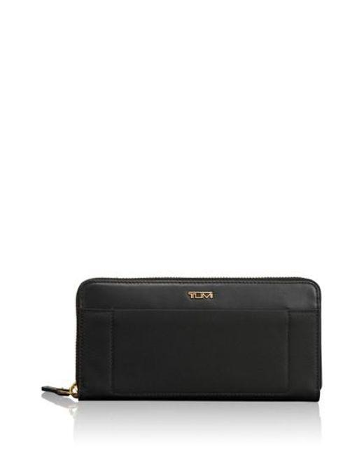 Tumi - Black Continental Zip Tech Wallet - Lyst